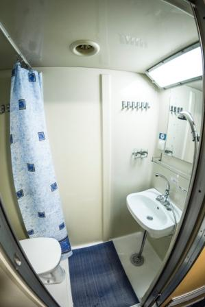 Bathroom in a Standard Lower Main Middle deck