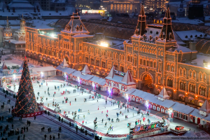Skating on the Red Square
